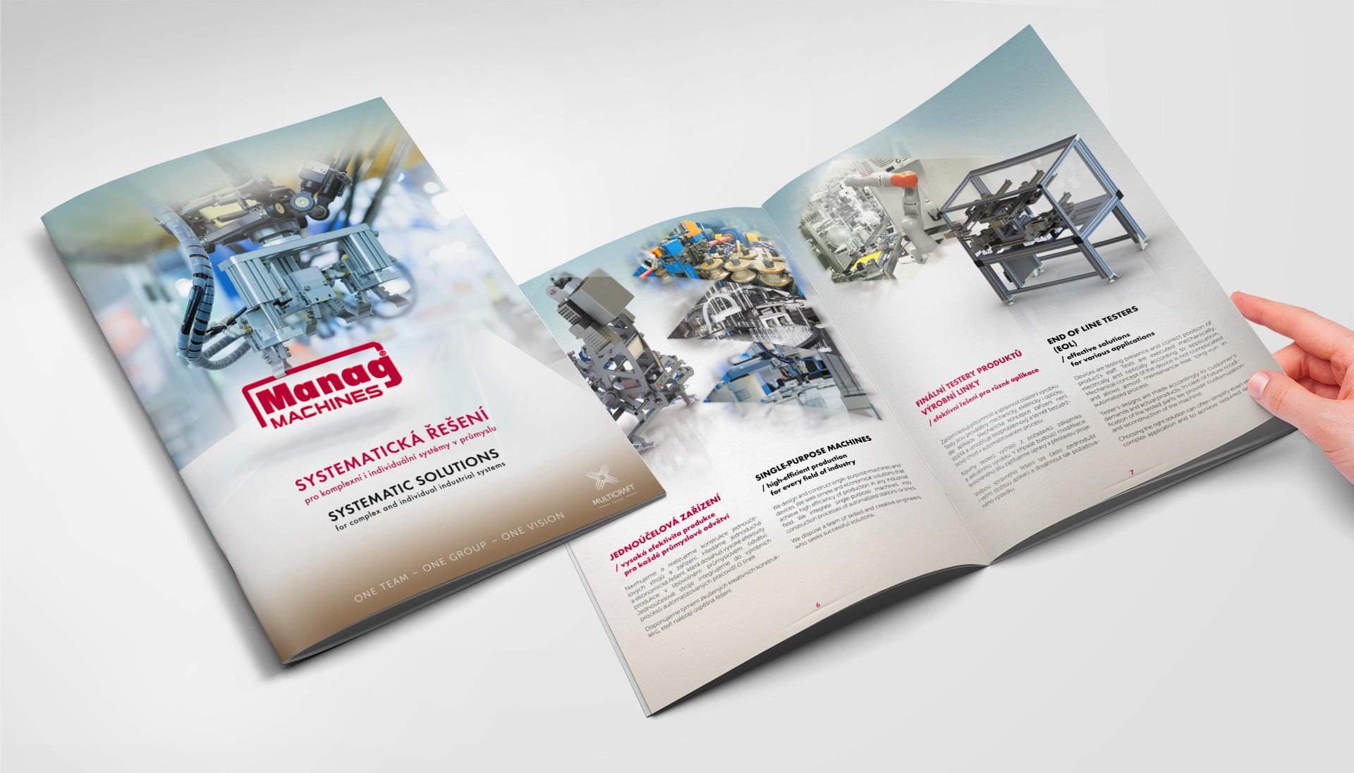 Tištěný katalog pro firmu Manag Machines